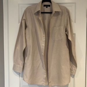 Jones New York Light Tan/Cream Dress Shirt